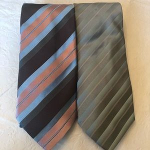 2 100% SILK HUGO BOSS TIES MADE IN ITALY
